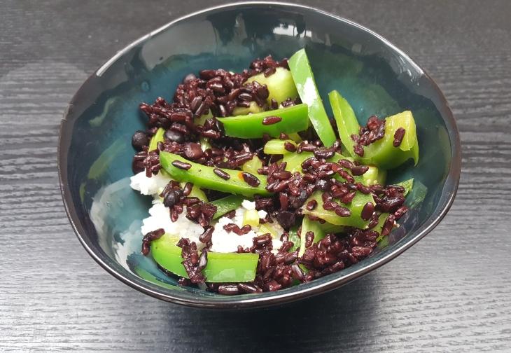 2 vom Reis vermischt