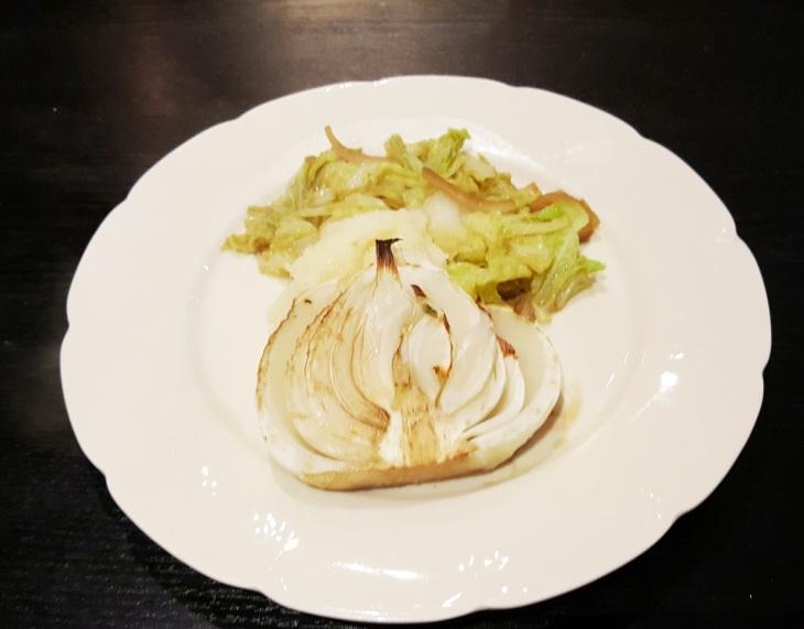 Fennel on savoy cabbage