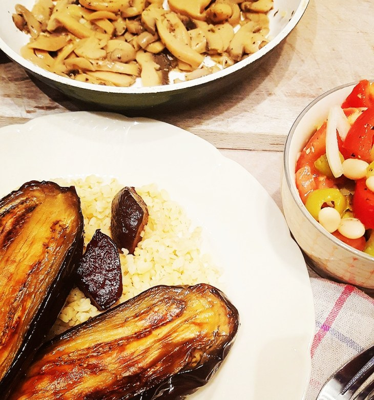 Greek salad and eggplant_Insta