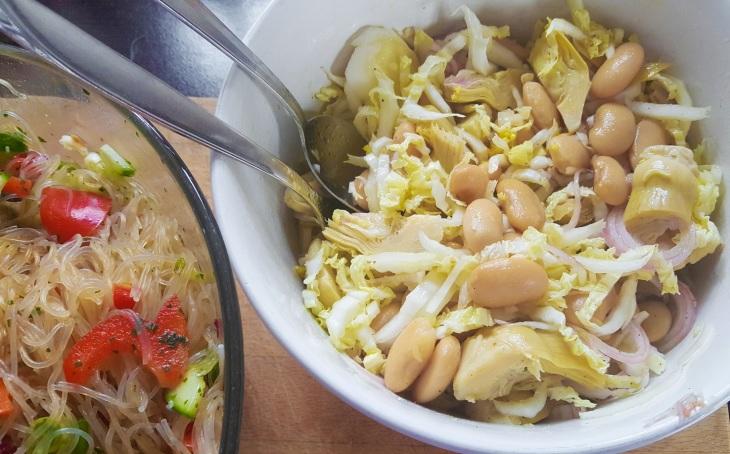 Bean artichock salad
